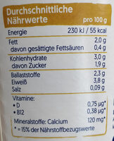 Natur mit Hafer - Nutrition facts - de
