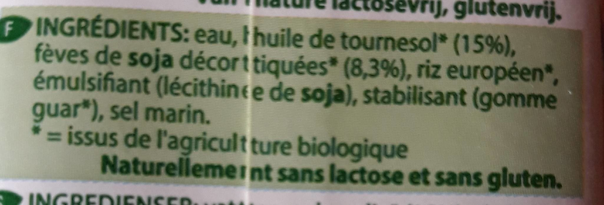 Soya Cusine - Ingredients - fr