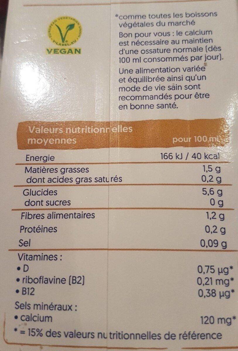 Hafer ohne Zucker - Valori nutrizionali - fr