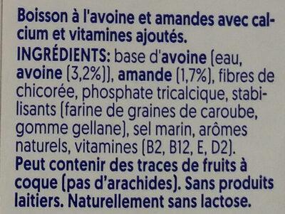 Alpro Hafer & Mandel - Ingredienti - fr