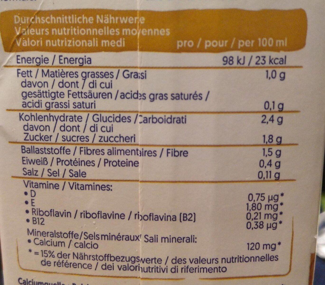 Alpro Hafer & Mandel - Valori nutrizionali - fr