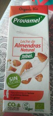 Leche de almendras natural ecológica, sin lactosa, - Product