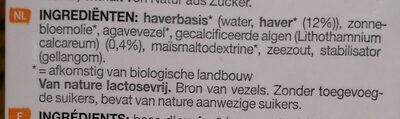Boisson à l'avoine - Ingrediënten - nl