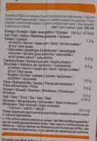 Boisson à l'avoine - Voedingswaarden - de