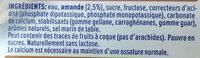 lait damande - Ingredients - fr