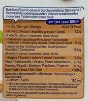 lait damande - Nutrition facts - fr