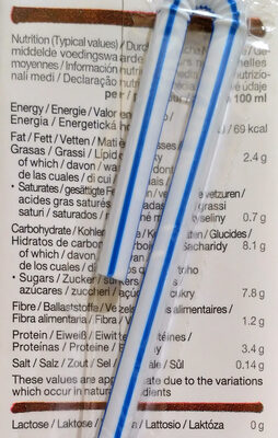 Drink Soja Choco - Nutrition facts - fr