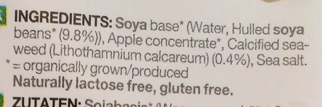 Soya. Calcium. - Ingredients - en