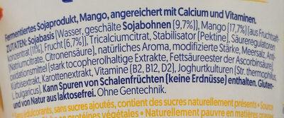 Mango mit mehr Frucht und ohne Zuckerzusatz - Inhaltsstoffe - de