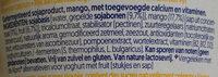 Alpro Mango (meer fruit) - Ingredients - nl