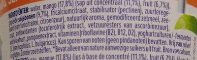 Dessert Soja mangue Sans sucres ajoutés - Ingrediënten - nl