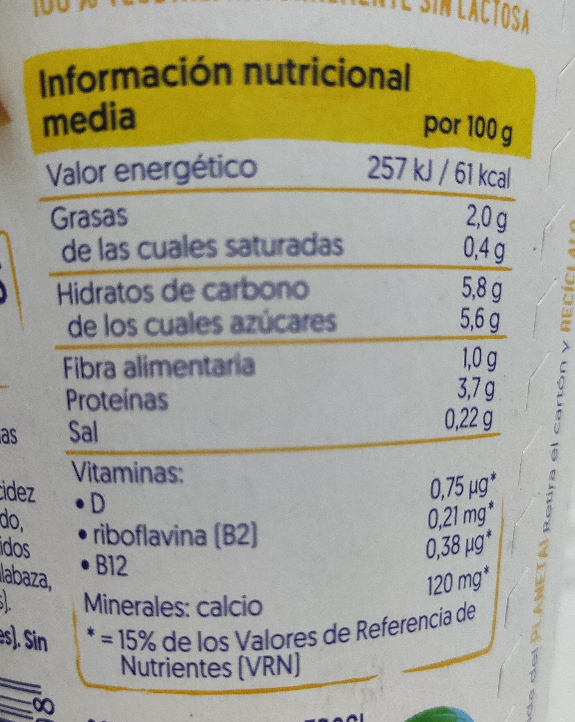 Mango mit mehr Frucht und ohne Zuckerzusatz - Información nutricional - es