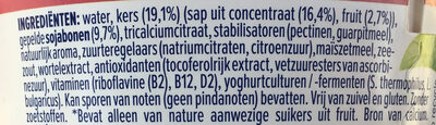 Yaourt de soja à la cerise - Ingrediënten - nl