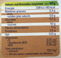 Dessert moment noisettes chocolat - Voedingswaarden - fr