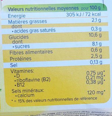 Dessert moments amandes vanille - Voedingswaarden - fr
