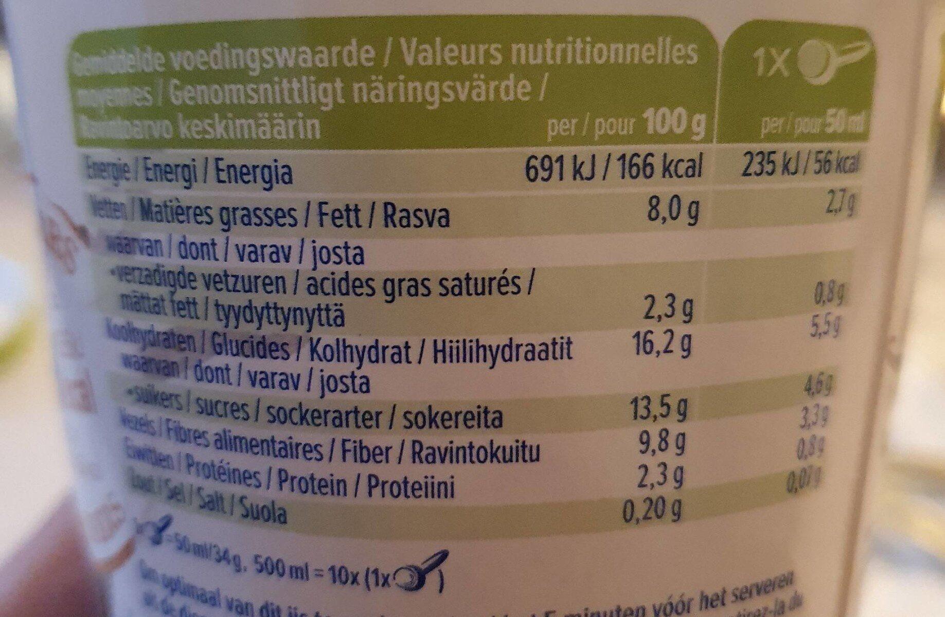 Alpro - Madagascan vanilla - Voedingswaarden - es