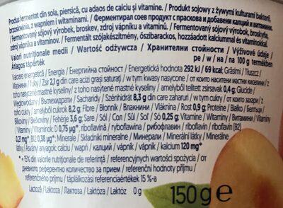 Sojový dezert s příchutí broskve - Valori nutrizionali - cs