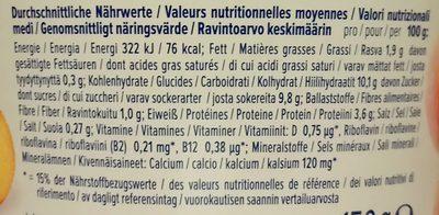 Alpro pêche - Nutrition facts - de