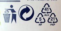 Sojový dezert s příchutí broskve - Istruzioni per il riciclaggio e/o informazioni sull'imballaggio - cs