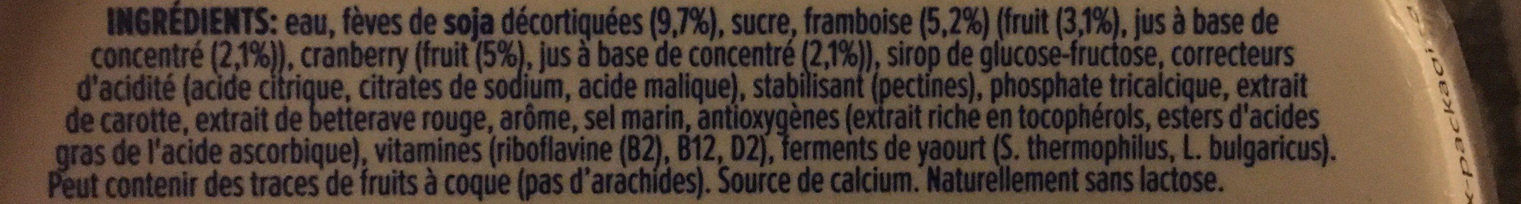 Himbeere-Cranberry - Ingrédients - fr