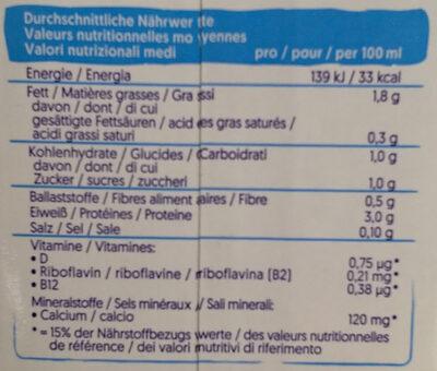 Barista Soya - Nutrition facts - de
