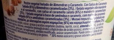 Amande caramel salé - Ingredientes