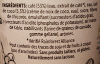 Caffè : Peruvian Coffee & Coconut Blend - Ingrédients