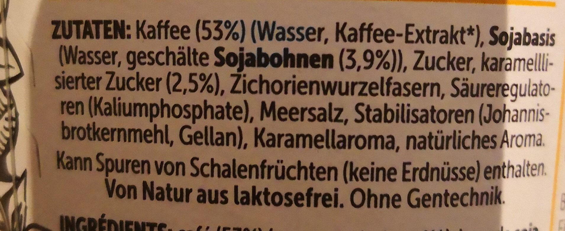 Caffè Soya Karamell - Ingrediënten