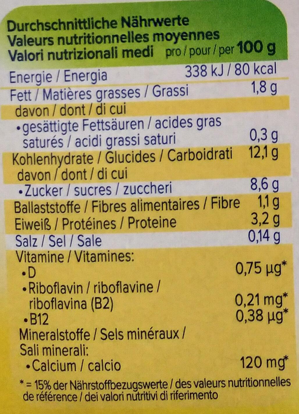 Soya dessert vanille - Informations nutritionnelles