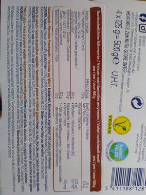 Alpro Schokolade Mildfein - Ingredients - de