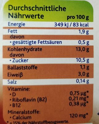 Alpro Schokolade Mildfein - Nutrition facts - de