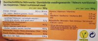 Alpro Caramel - Informazioni nutrizionali - fr