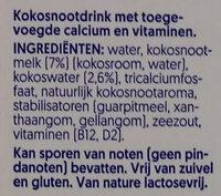 Kokosnuss ungesüßt - Ingrediënten - nl