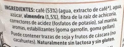 Caffè Vegetal Brazilian coffee & almond blend - Ingredients