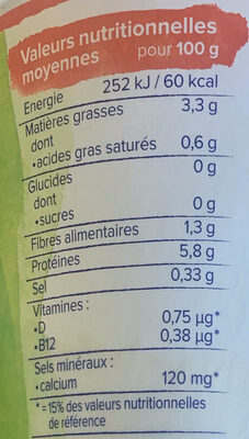 Alpro Skyr Style Ohne Zucker - Informations nutritionnelles - fr
