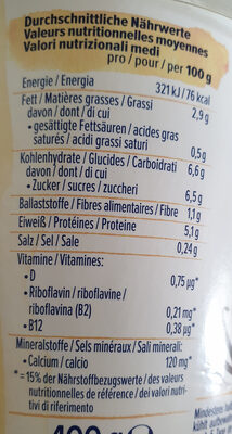 Skyr style vanille - Nutrition facts