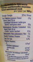 Skyr Style Vanille Geschmack - Valori nutrizionali - fr