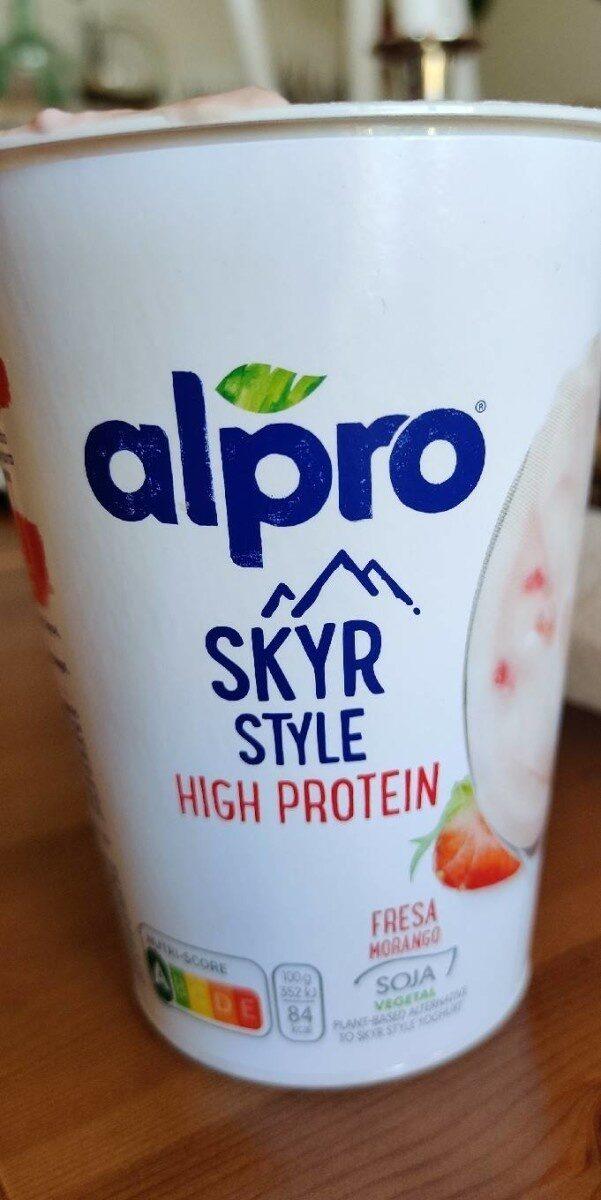 Alpro Skyr style High Protein Fresa - Producte - de
