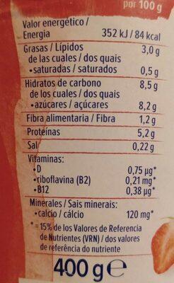 Alpro Skyr style High Protein Fresa - Informació nutricional - de