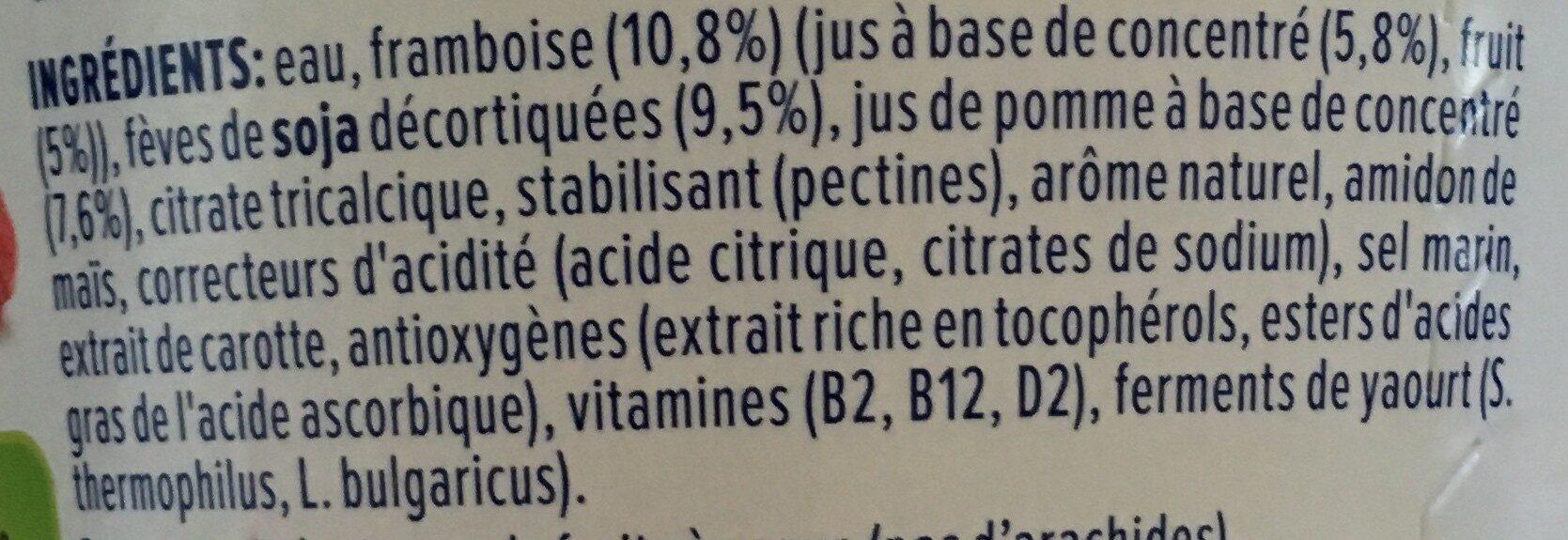 Framboise - Pomme - Ingrédients