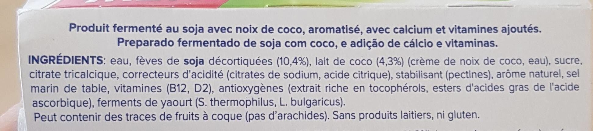 Nature à la noix de coco - Ingredients - fr