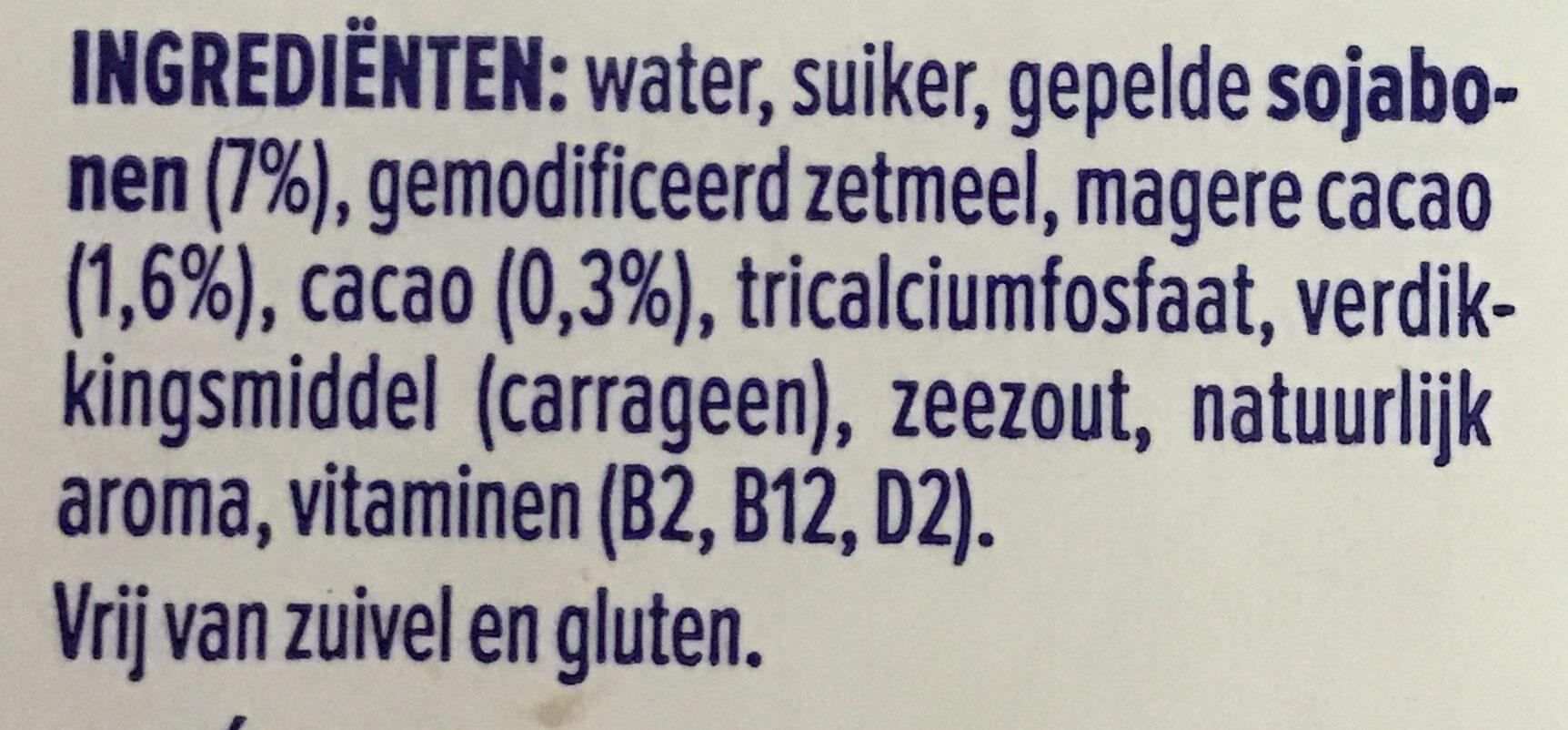 Alpro dessert chocolat - Ingrédients - nl