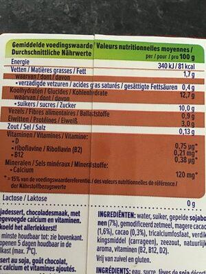 Alpro dessert chocolat - Informations nutritionnelles - nl