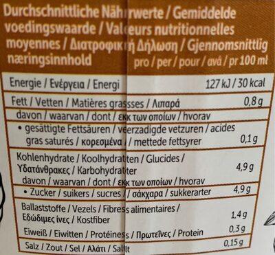 Alpro caffé - Valori nutrizionali - fr