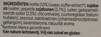 Caffè soja carramel - Ingrediënten - nl