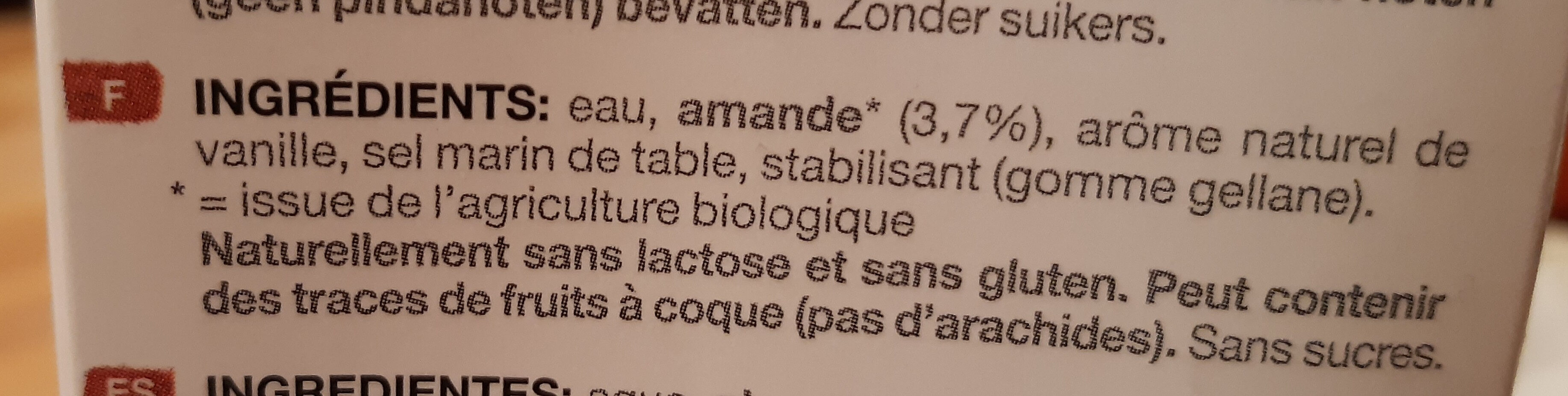 Provamel Almond - Ingredients - fr