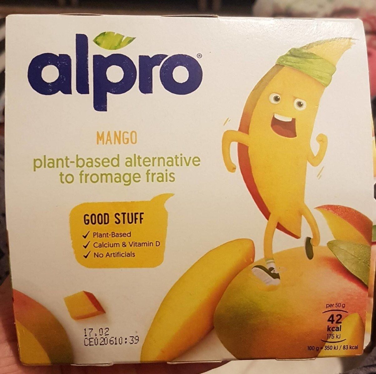 Mango plant-based alternative to fromage frais - Prodotto - en