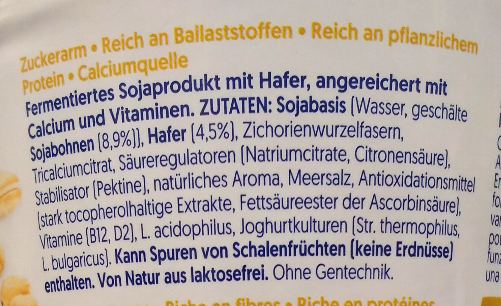 Hafer  Natur - Ingredients - de