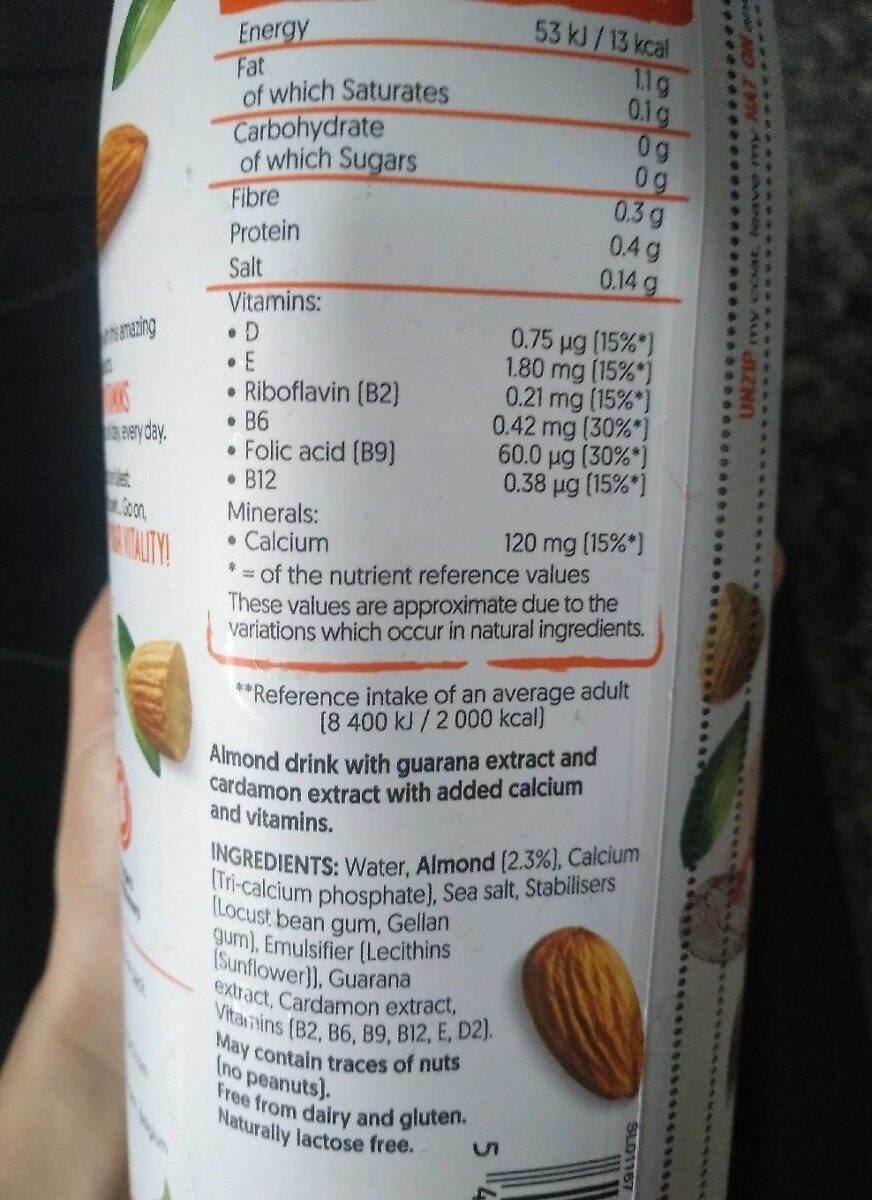 Dialy Vitality - Nutrition facts - de