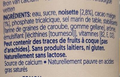 Chocolate praline flavour hazelnut - Ingrediënten - fr
